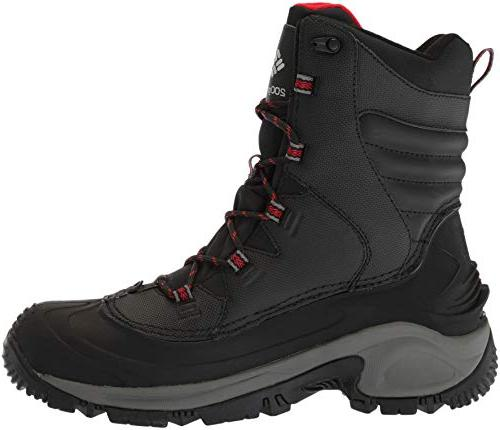 Columbia Wide Mid Black, Bright red, Wide