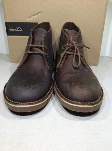 Clarks Sz Beeswax Leather Boots