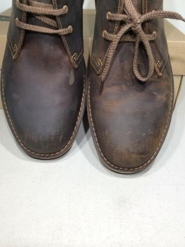 Clarks 2 Sz 9.5M Beeswax Leather