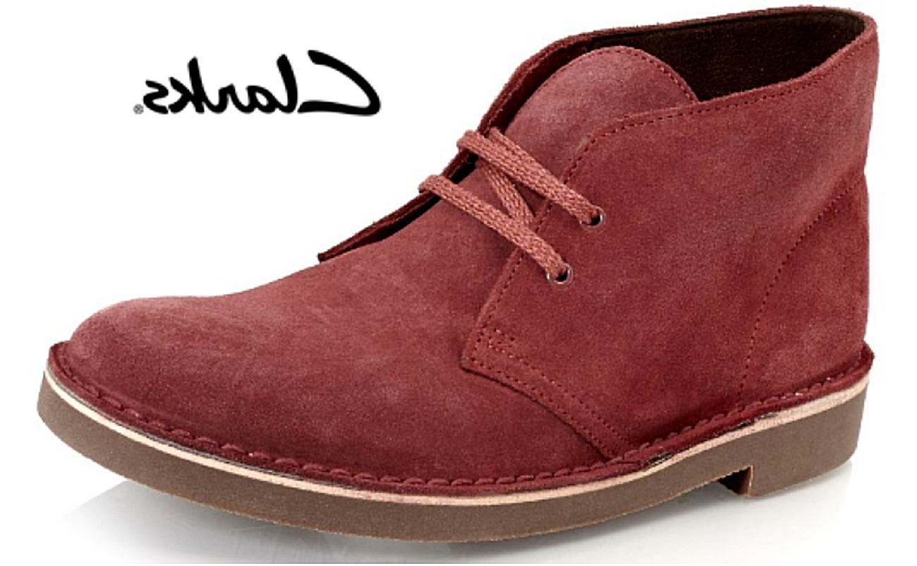bushacre 2 wine red suede leather men