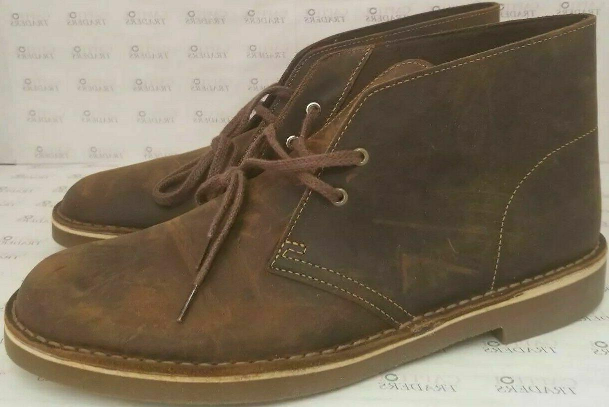 Clarks Leather Chukka Boots Beeswax Mens Size Us 9 brown