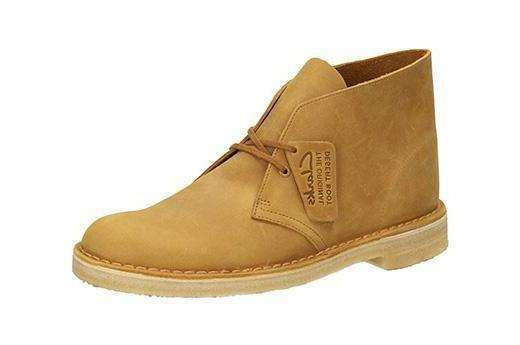 Clarks Original Desert Boot Men's Mustard Leather Casual Sho
