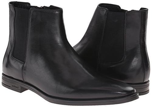 Calvin Men's Leather Boot, Black, M