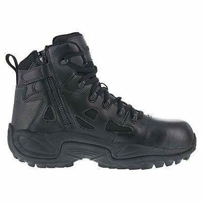 "Reebok Work Men's Rapid Response RB RB8674 6"" Tactical Boot Color BLACK"