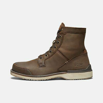 eastin lace mens boots brown