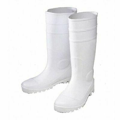 JAYDEE ENGUARD EGPVW-12 PVC Boots,White,Size 12,PR
