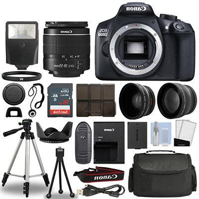 Canon EOS Rebel T6 / 1300D Camera + 18-55mm + 75-300mm + 30
