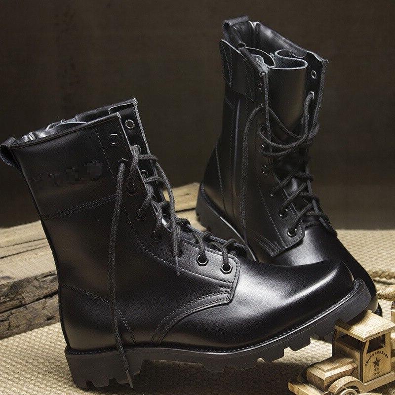 Fashion black leather <font><b>Boots</b></font> <font><b>Boots</b></font> Tactical Combat Waterproof Summer/Winter Desert shoes