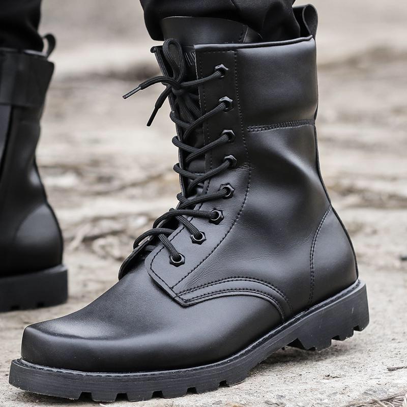 Fashion Army black <font><b>Boots</b></font> <font><b>Men</b></font> Tactical Waterproof Summer/Winter Desert shoes