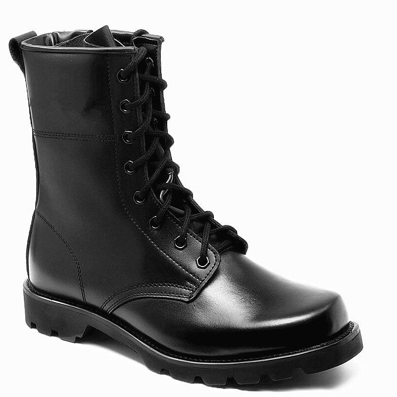 fashion army black leather font b boots