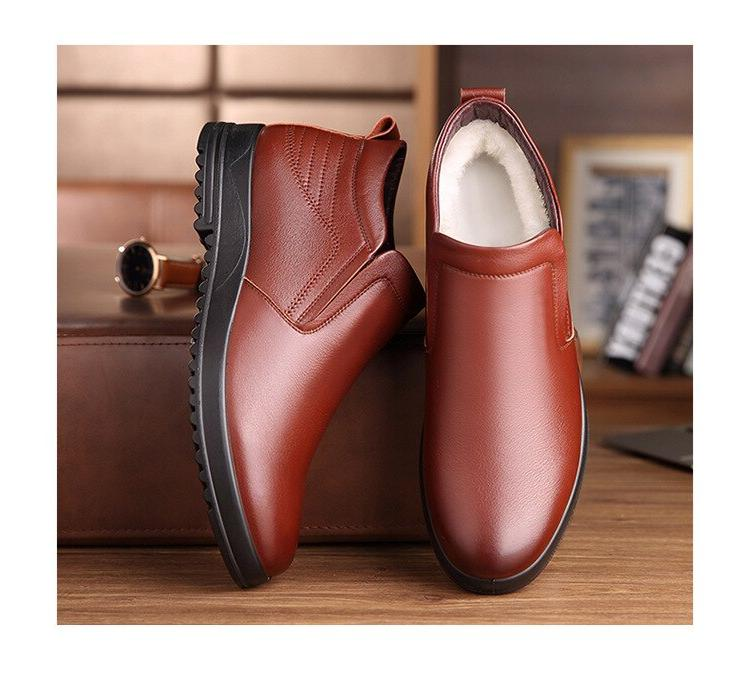 <font><b>Leather</b></font> <font><b>Boots</b></font> Winter <font><b>Mens</b></font> Booties