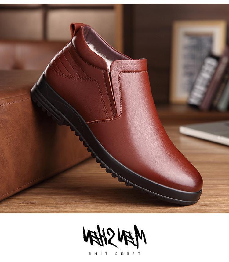<font><b>Leather</b></font> Chelsea <font><b>Men</b></font> Winter Shoes <font><b>Mens</b></font> Booties
