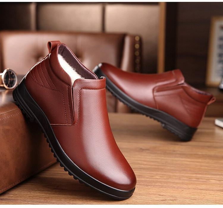 <font><b>Leather</b></font> <font><b>Boots</b></font> Winter Shoes Fashion <font><b>Mens</b></font> Ankle Booties 2019