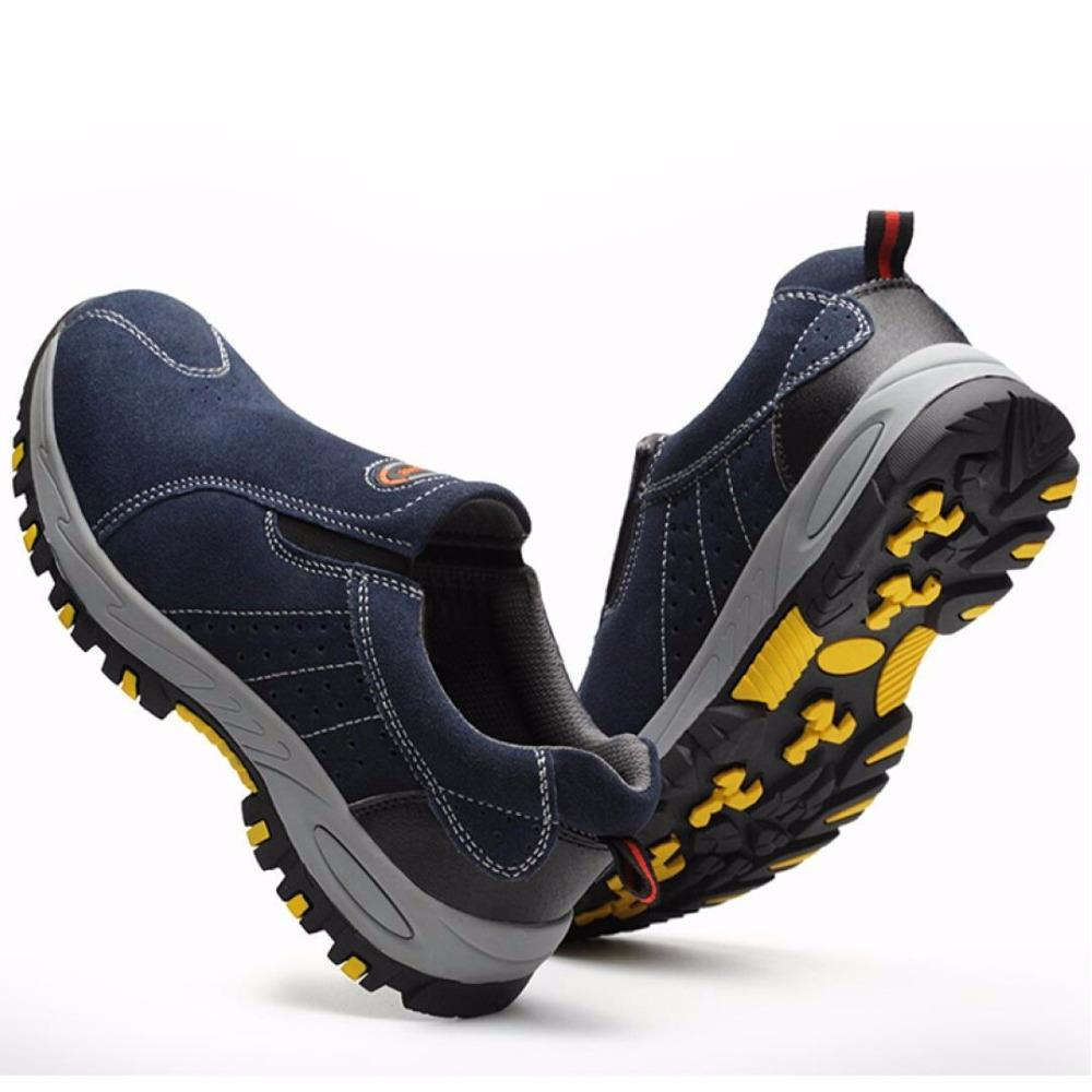 <font><b>Steel</b></font> Shoes <font><b>Men</b></font> Summer Slip Casual Insurance