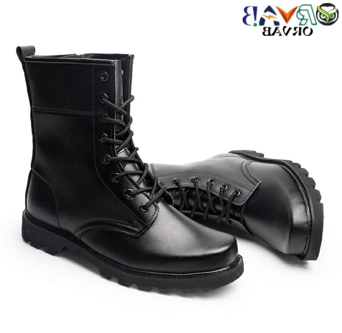 <font><b>Steel</b></font> <font><b>Boots</b></font> Winter <font><b>Men</b></font> Military Leather Combat Bot Infantry <font><b>Boots</b></font> Askeri Army Bots Shoes