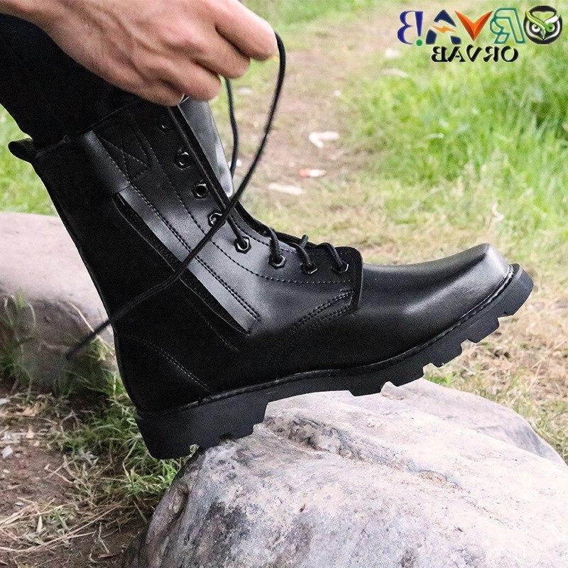 <font><b>Steel</b></font> <font><b>Men</b></font> Combat Bot Infantry <font><b>Boots</b></font> Bots Work Safety Shoes