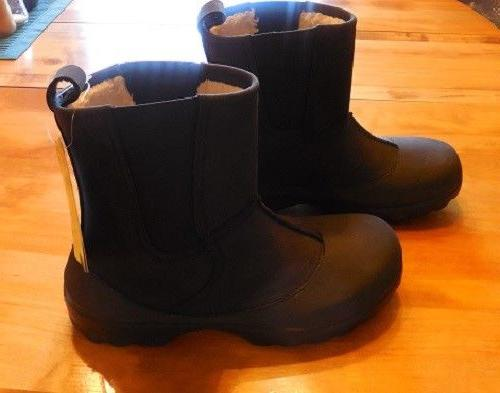 "CROCS GREELEY MEN'S BOOT.....BLACK.....M7.............""FREE"