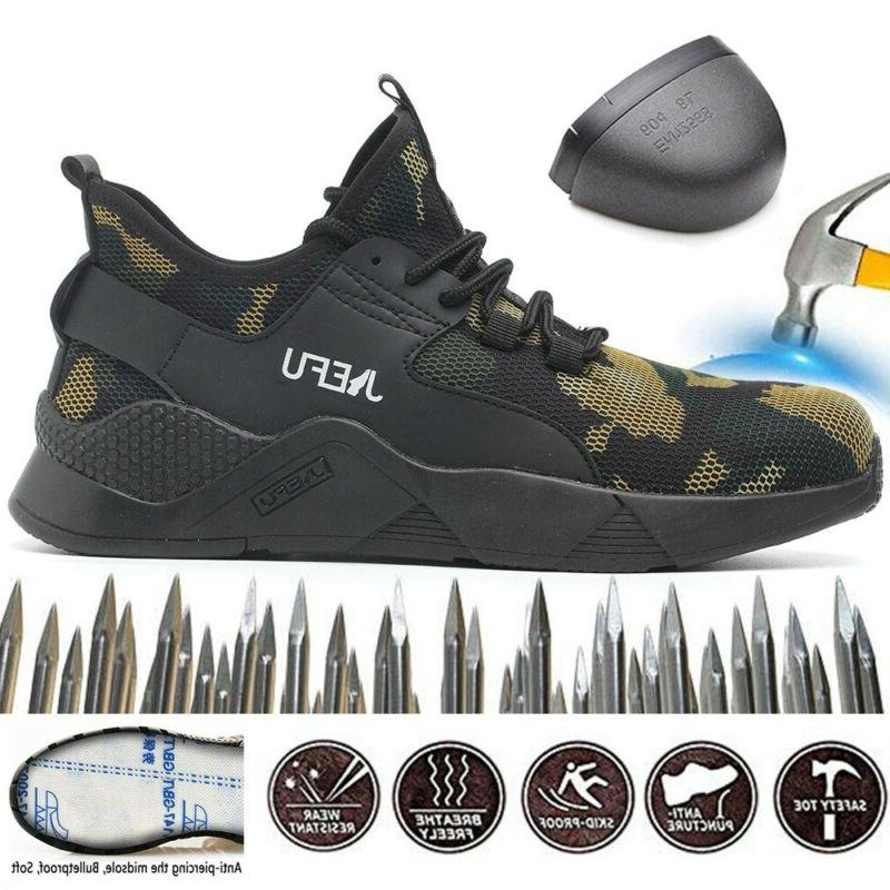 Men's Safety Toe Work Boots Hiking