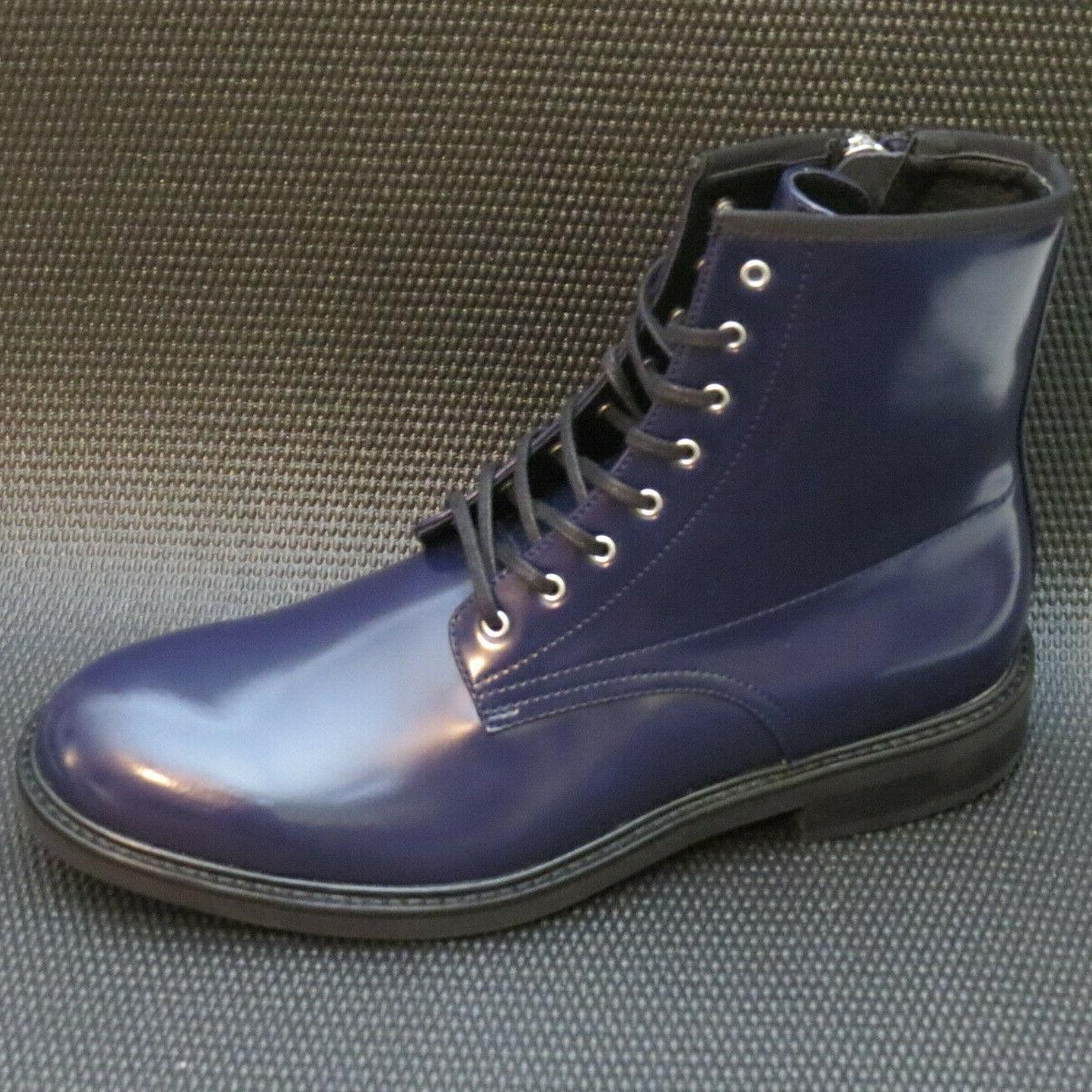 Calvin Men's Size Leather Combat Boots