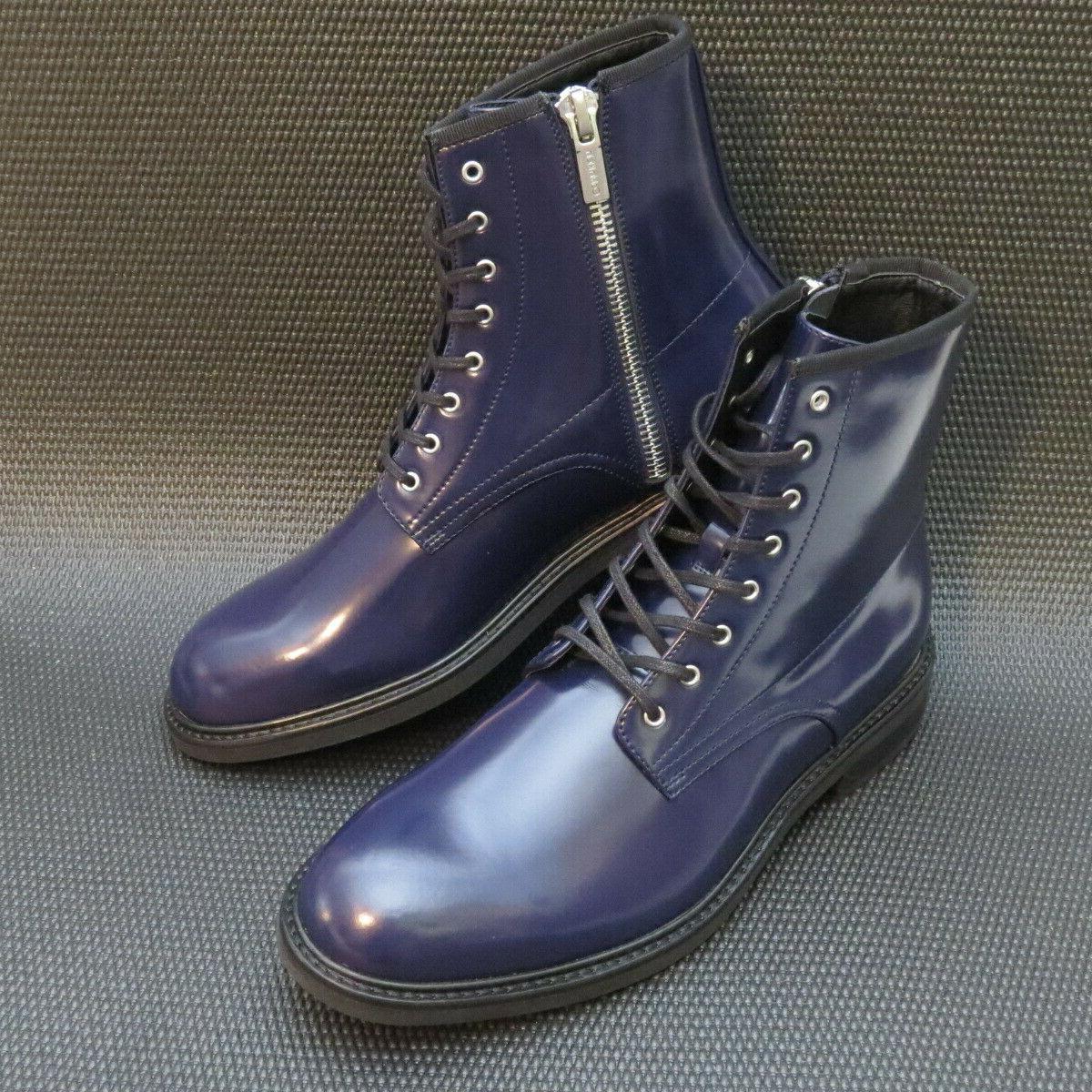 Calvin 34F0468 Men's Blue Leather Combat Boots