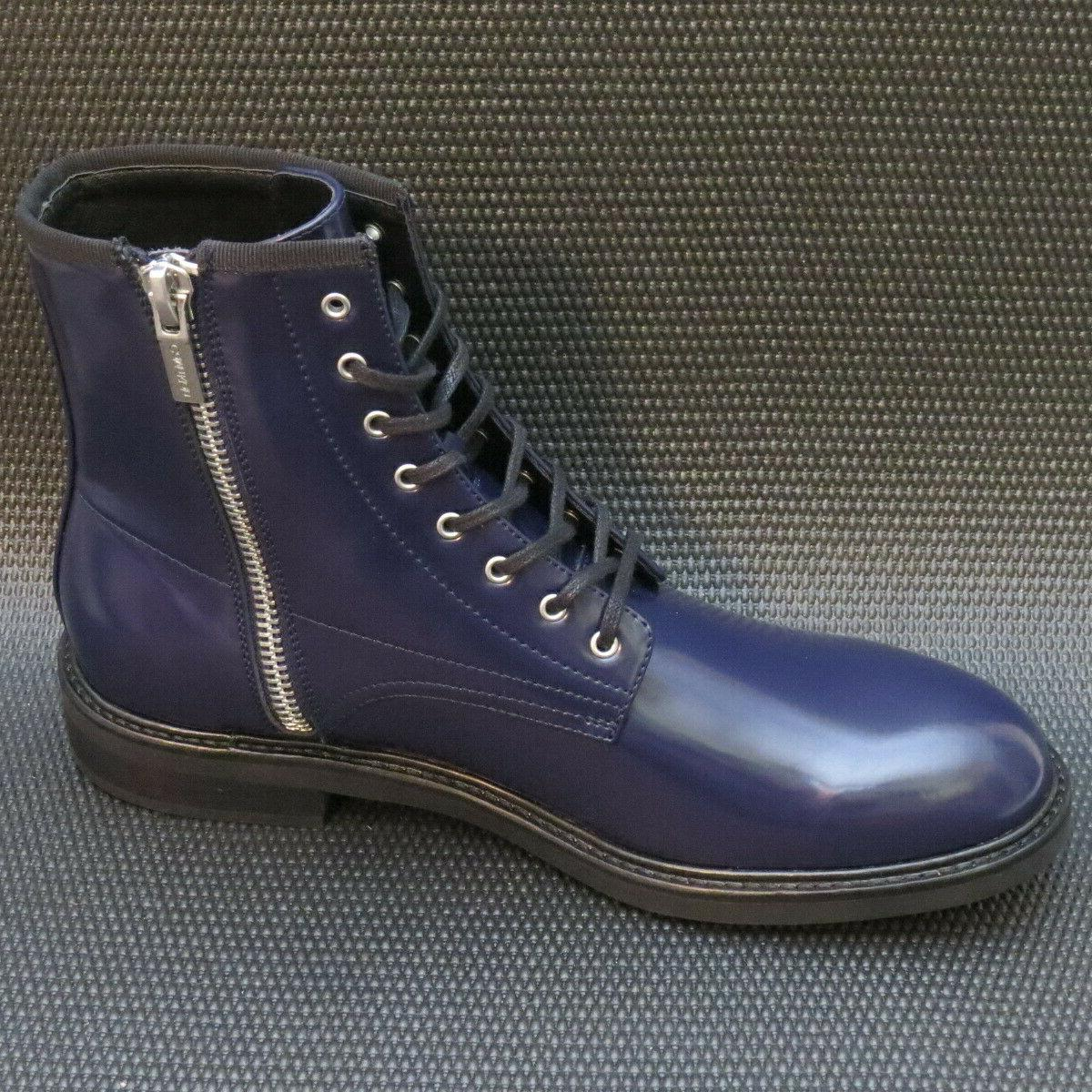 Calvin Klein Keeler Men's 10.5 Leather Combat Boots NEW