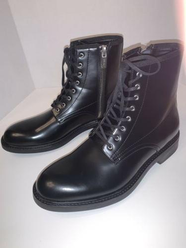 Calvin Klein Men's Size 9.5 Leather Combat Boots NEW