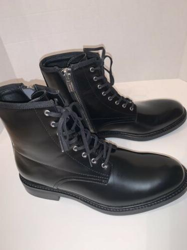 Calvin 34F0468 Men's Size 9.5 Leather Combat Boots