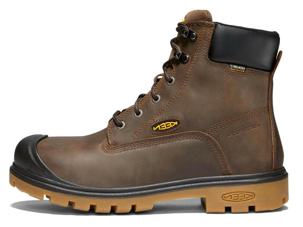 "Keen 1018663 Men's Baltimore 6"" Waterproof Steel Toe Dk Brow"