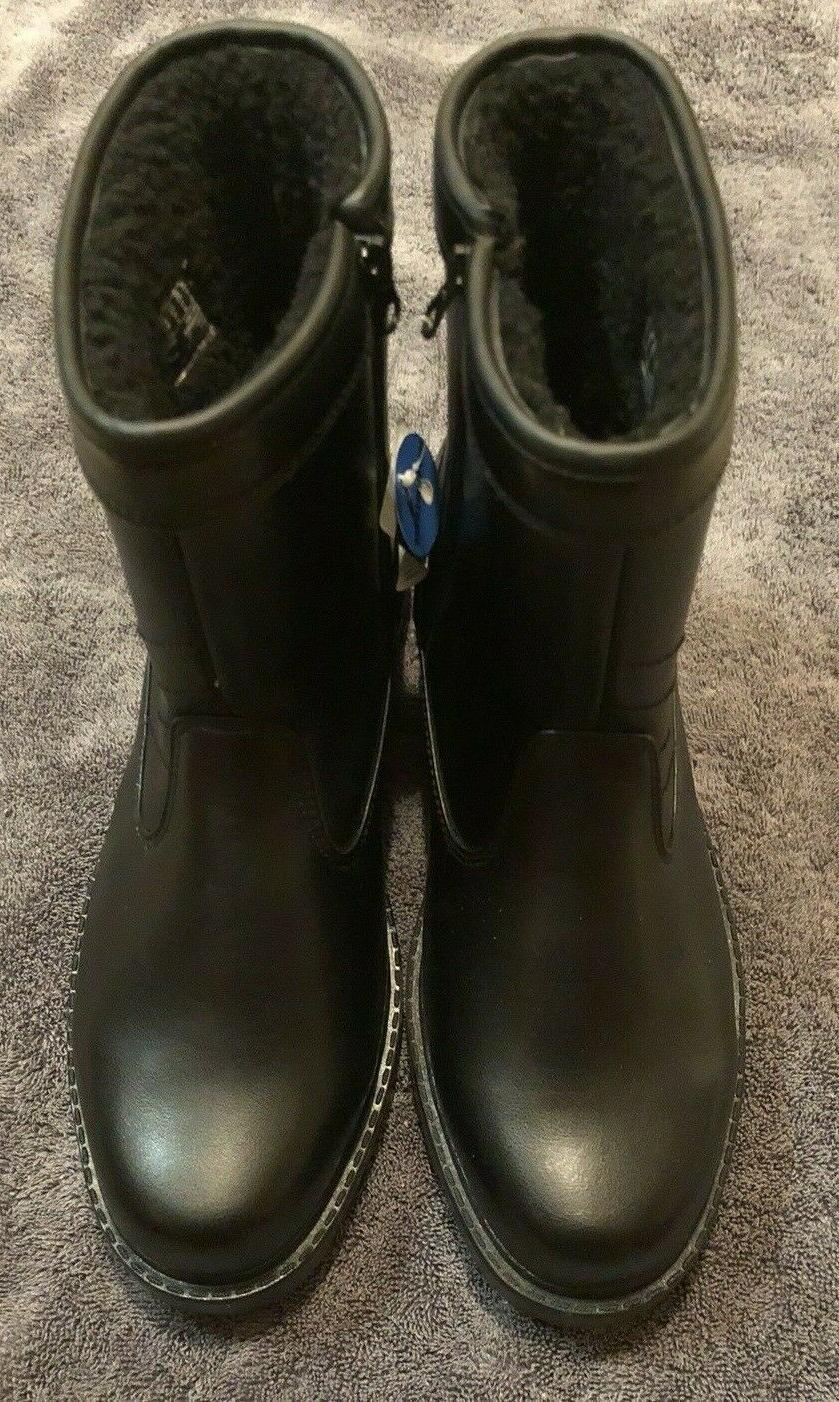 Clarks Snow Rain Boots Leather Size: