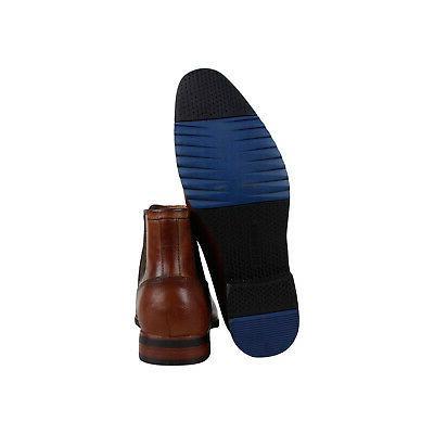 Steve Madden Brown Leather Slip On Chelsea Boots