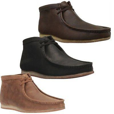 Clarks Men Ankle Boots Wallabee Step Chukka Lace Up Shoes NE