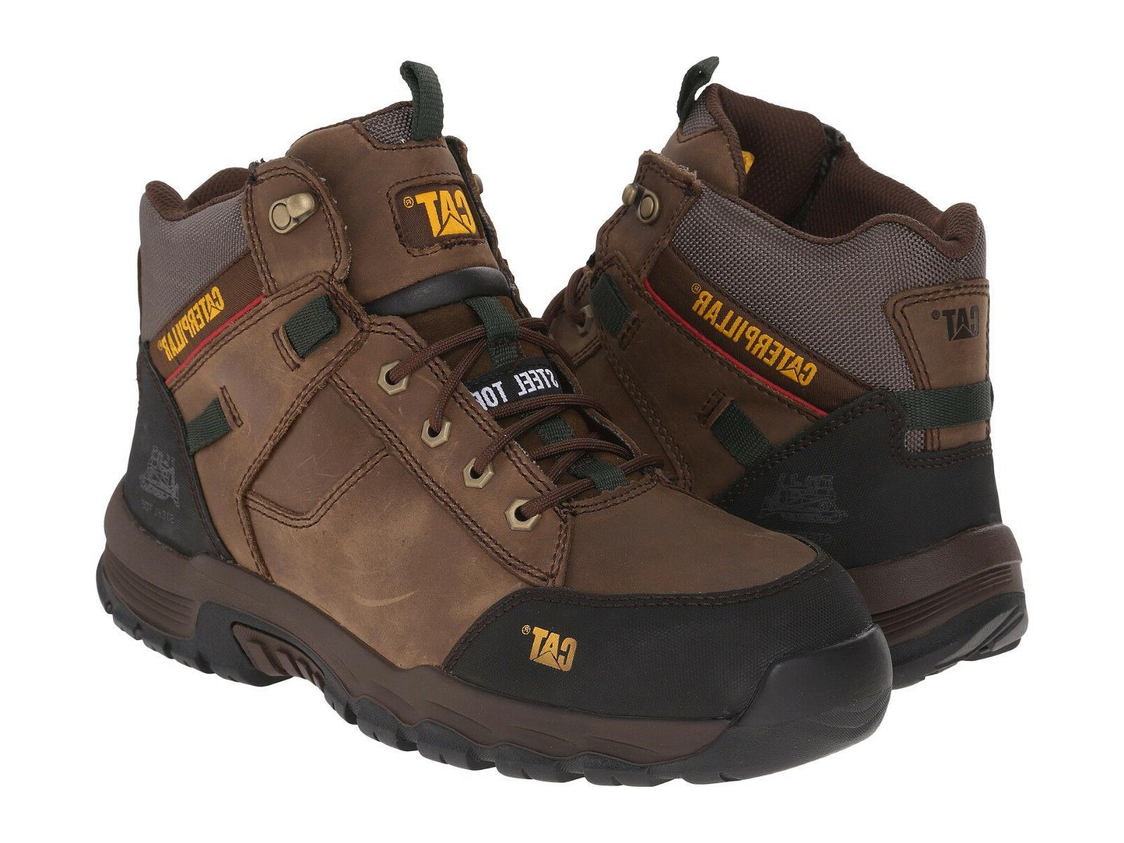 Men Caterpillar Safeway Mid Steel Toe Work Boot P90623 CUB 1