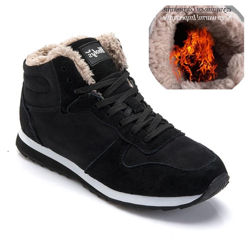 Men <font><b>Boots</b></font> Men Shoes Size Warm Ankle Botas Hombre For Shoes Sneakers Mens