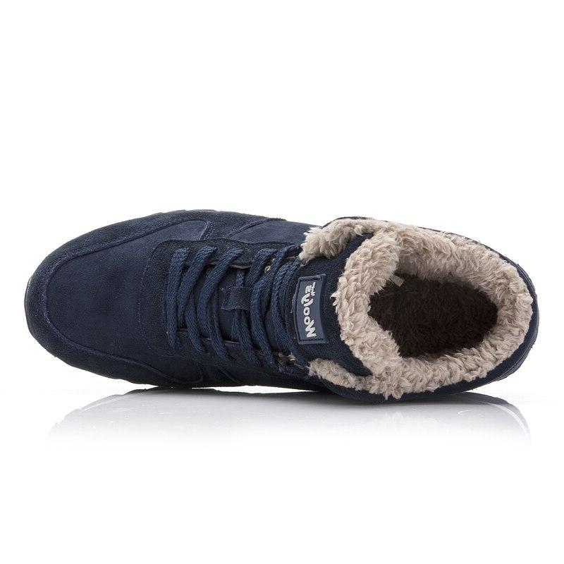 Men <font><b>Boots</b></font> Men Shoes Size 35-48 Warm Ankle For Leather Shoes Plush Winter Sneakers Mens