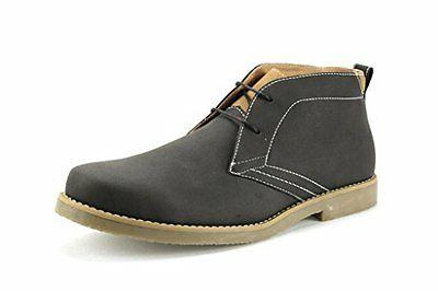 Polar Fox Men's 506008 Grey Casual  Ankle High Desert Chukka