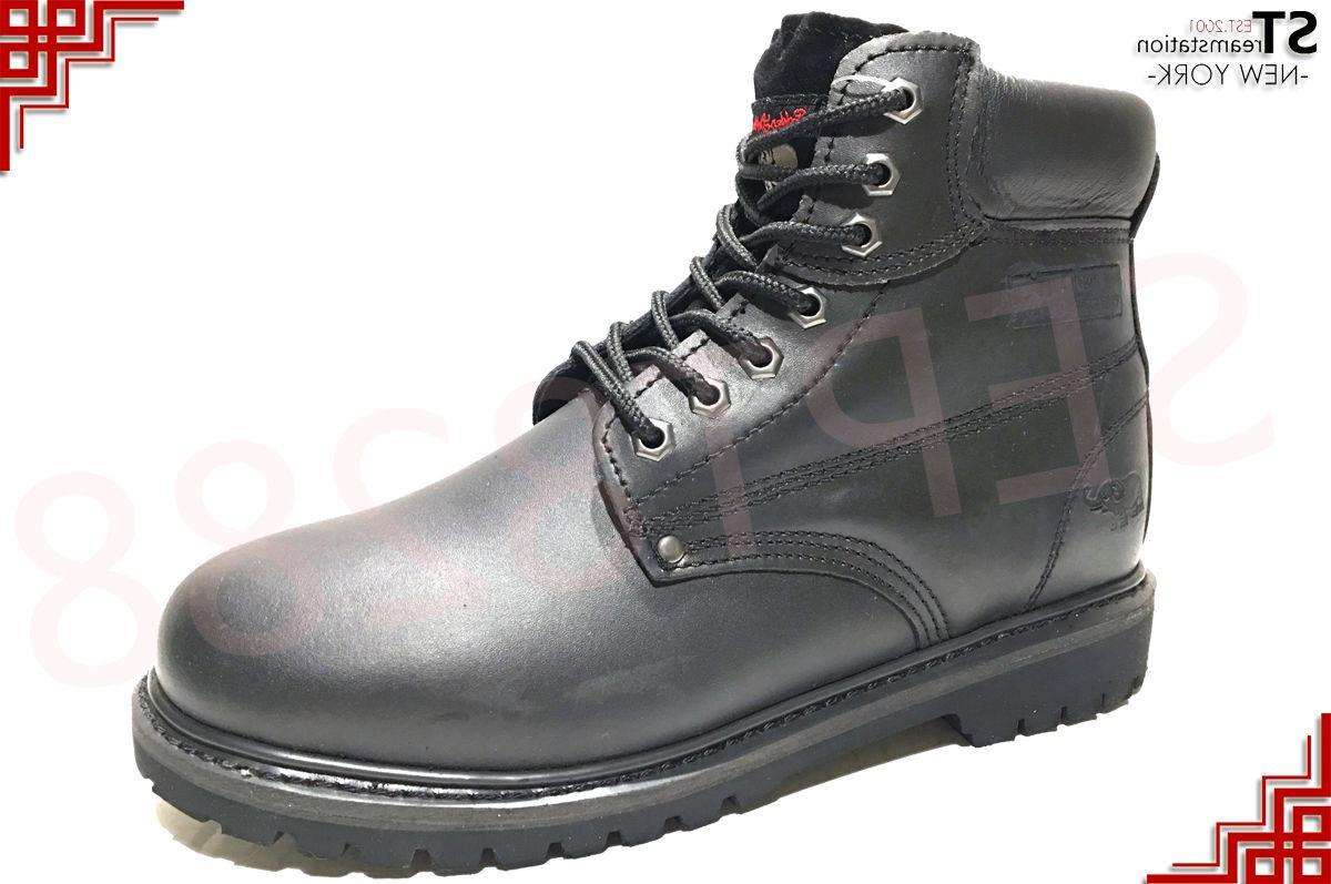Men's Shoes Toe Leather Lace A6011ST