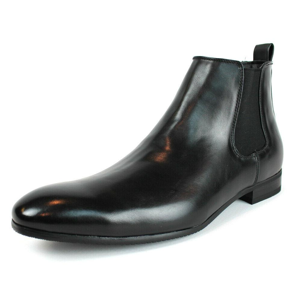Black Dress Boots Zipper Round Toe Chelsea