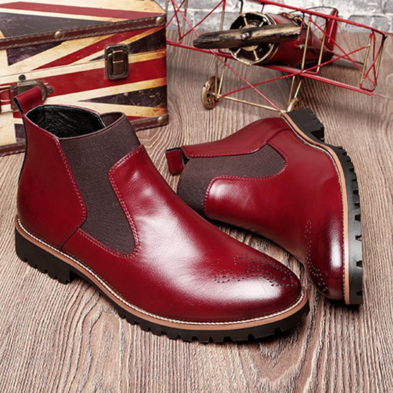 Men's Dress Almond Leather