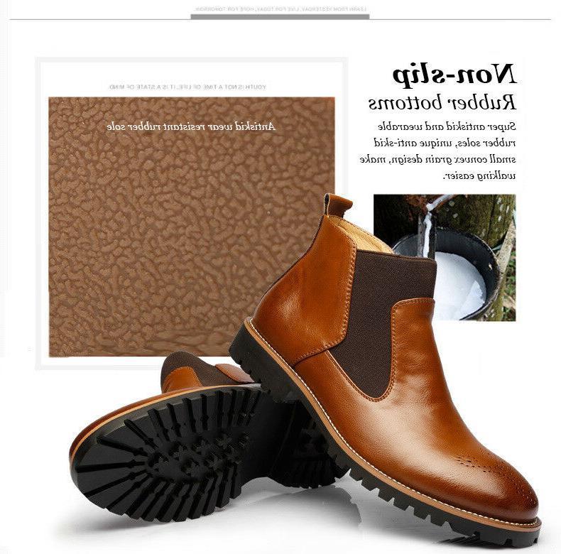 men s ankle martin dress boots slip