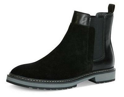 Calvin Klein Men's Avis Black Suede-Calf Smooth Chelsea Boot