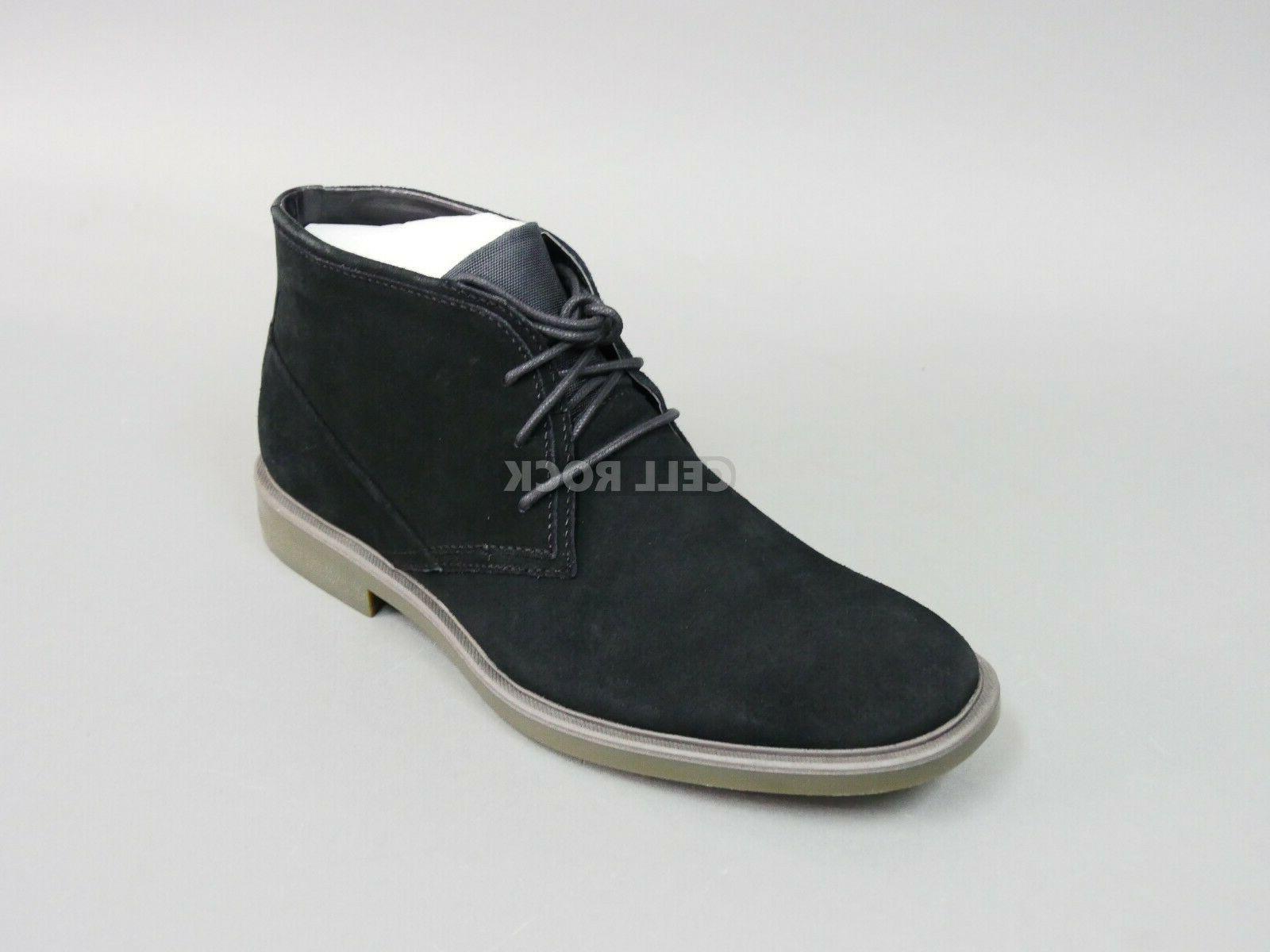 Calvin Klein Men's BLACK SUEDE BOOTS Shoes Size 10.5 M ULysses