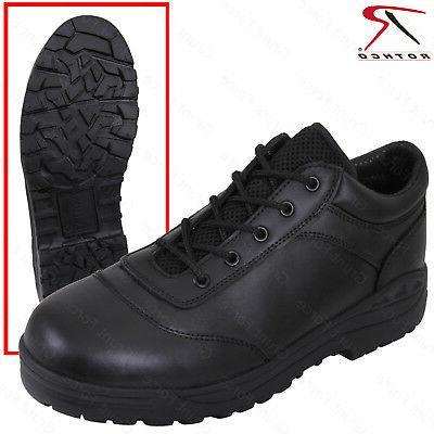 men s black tactical utility oxford shoe