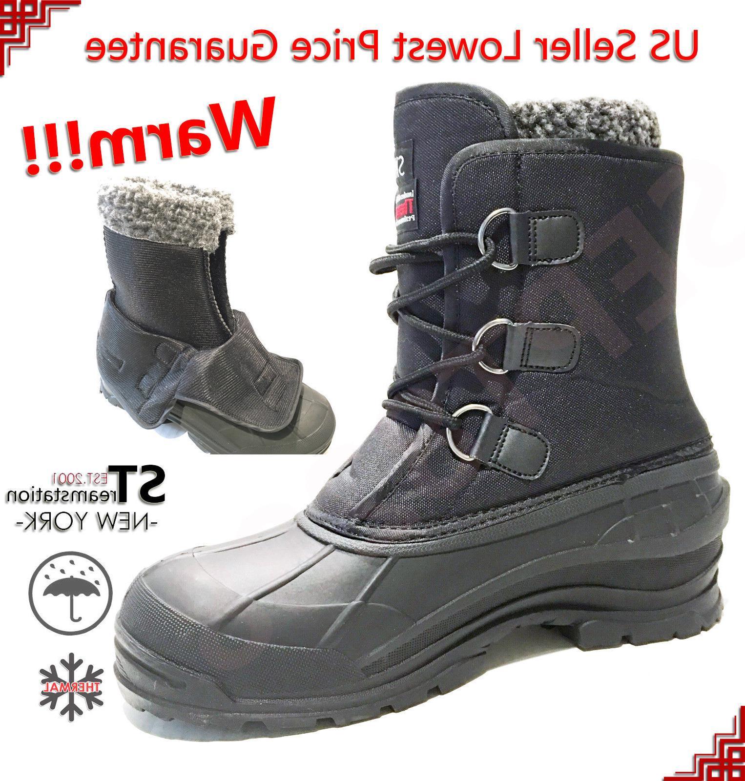 men s black winter snow boots shoes