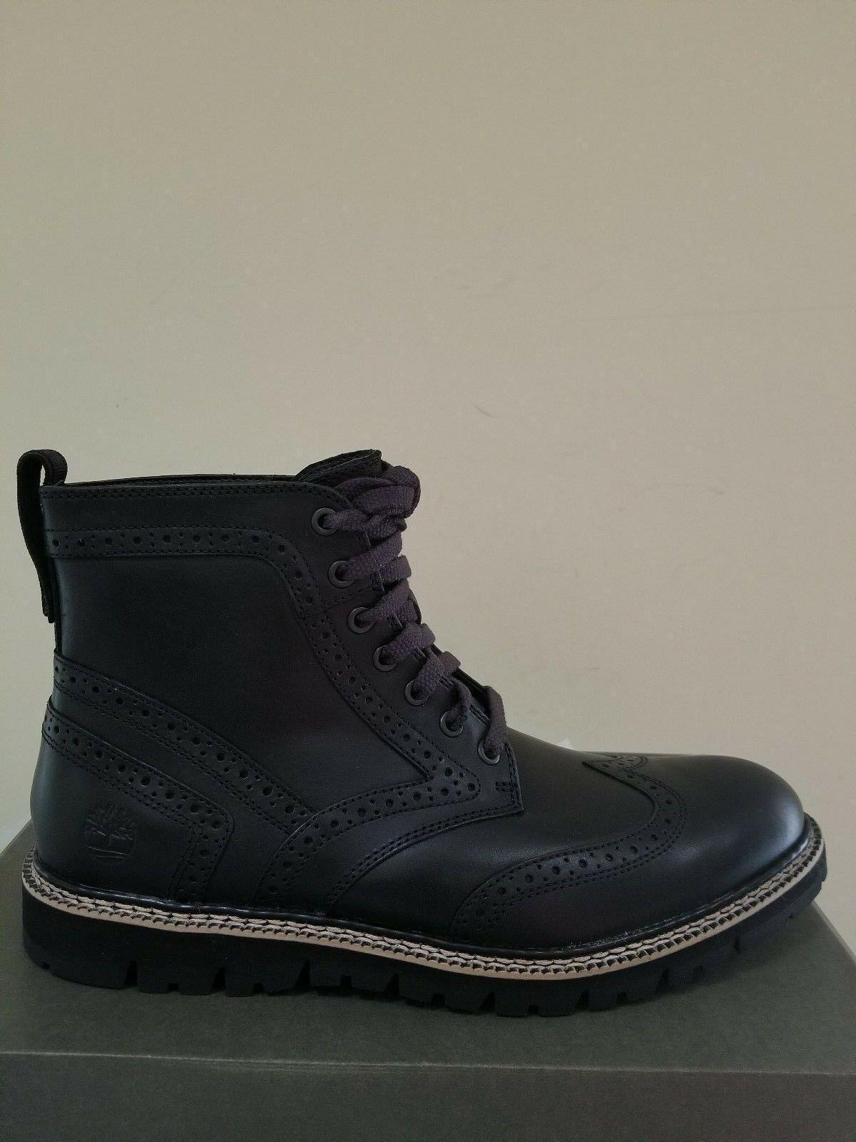 Timberland Men's Britton Hill Wingtip Waterproof Boots Black