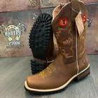 men s brown work boots western cowboy