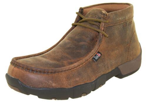 men s cappie dark brown steel toe