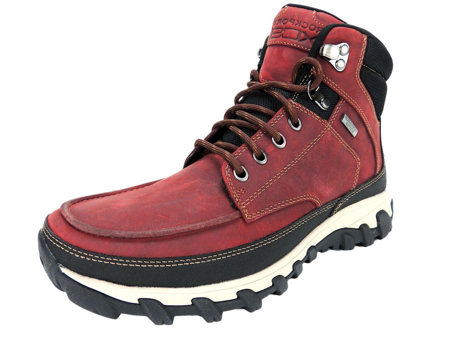 Rockport Men's Cold Springs Plus Moc Toe Snow Boots Red Leat