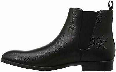 Calvin Small Tumbled Chelsea Boot, Black, Size 8.0 Idm