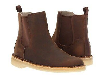 Men's Clarks Desert Peak Chelsea Boot Beeswax Leather 261287