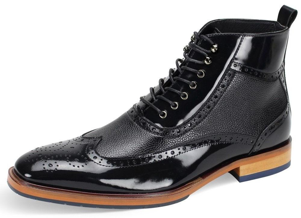 men s dress ankle boots wing tip